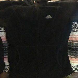 The North Face hooded zip up sweater